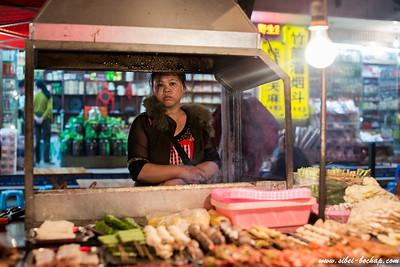 Rou Chuan seller along the streets of Kunming