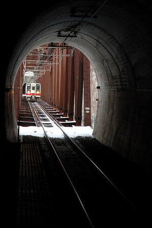 This one is still from 2 years ago, but I left it here because the station is still the same.  It is a unique station that is inside a tunnel.  This is taken from the platform.