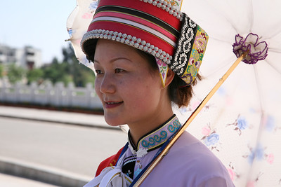Girl in Traditional Ethnic Costumes, Yunnan