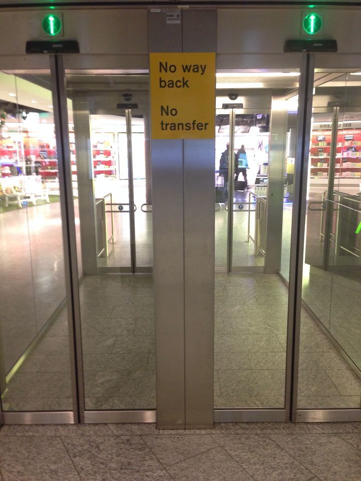 Zürich, Flughafenausgang
