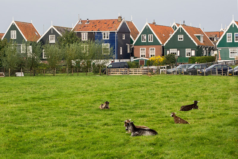 Marken used to be an island. Due to dykes and land reclamation it no longer is an island.