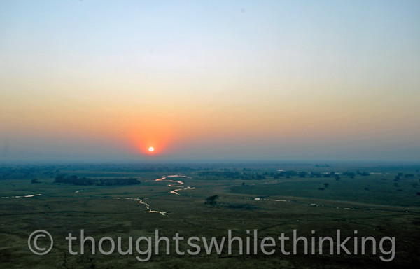 Sunrise over Kafue NP.