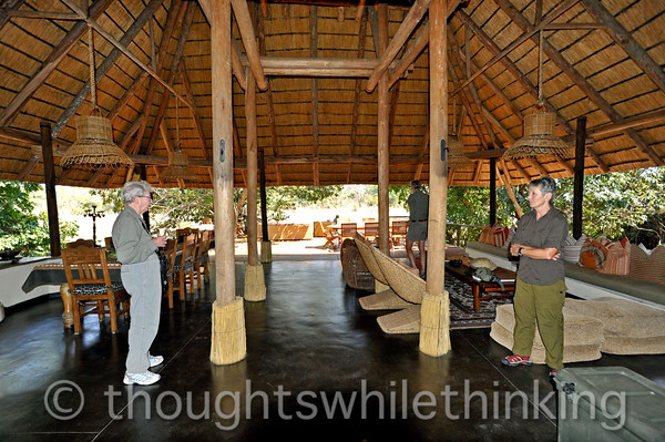This is the dining room, lounge and bar area at Kapamba Bush Camp. Comfortable, casual and relaxing.