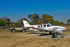 To Busanga airstrip by Land Rover; to Livingstone by Beechcraft. Fun coming and going!