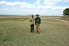 Two hardy travelers on the primal plains of the Zambian savanna.