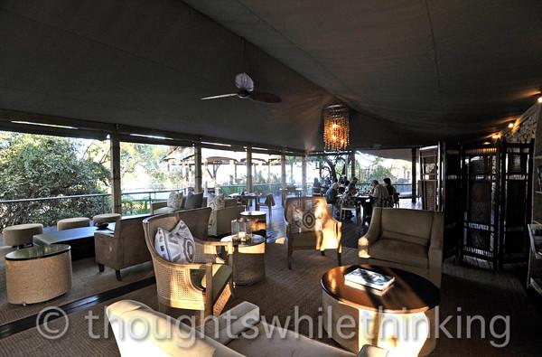 Toka Leya's lounge and dining area.