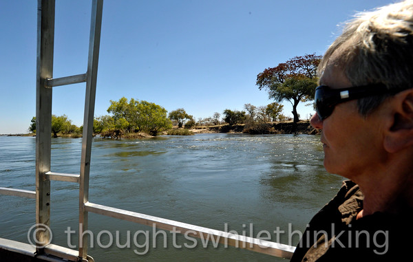 On our way to Toka Leya Camp on the Zambezi River, 12 km upstream from Victoria Falls.