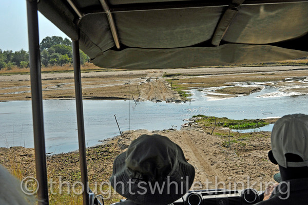 No problem with this crossing with Phil at the controls in our 4WD Land Rover - more of a truck than a car.