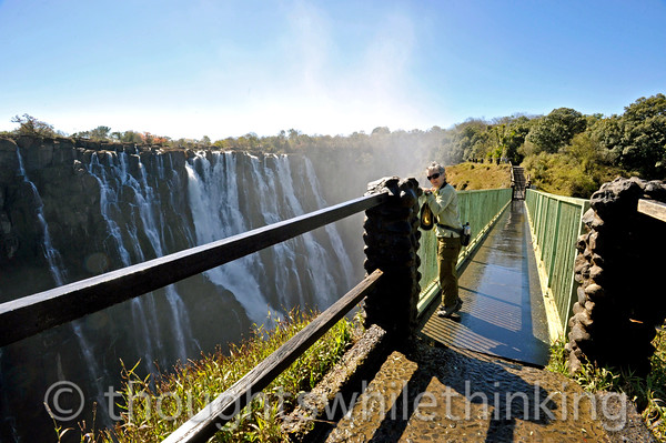 Victoria Falls. We can see about one fourth of the falls from the Zambian side.