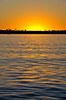 Sunset on the Zambezi River during a tour from Toka Leya Camp.