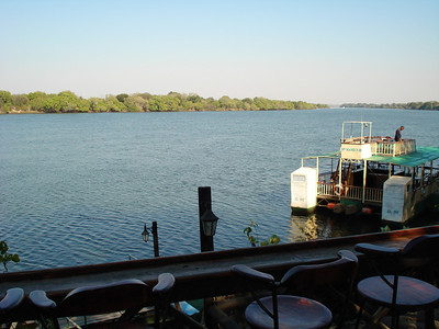 I drank a few beers here, sitting watching the Zambezi River flow by - great spot!