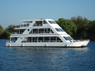 The 'Lady Livingstone' tour boat on the Zambezi