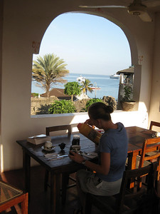 Breakfast view from Hotel Kaponda in Stone Town
