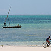 Boat and Bike at Paje beach - Zanzibar