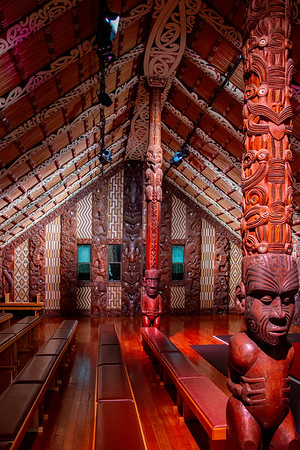 Bay of Islands  -  Waitangi House where the treaty giving all Maori lands to England was signed. The English and Maori versions of the treaty differed and the effect was to essentially steal Maori lands and deed tem to the British ... a wrong that has been partially rectified.