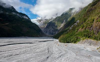 Near Fox Glacier  - Braided River