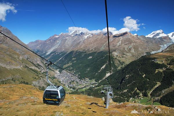 Zermatt in the valley.