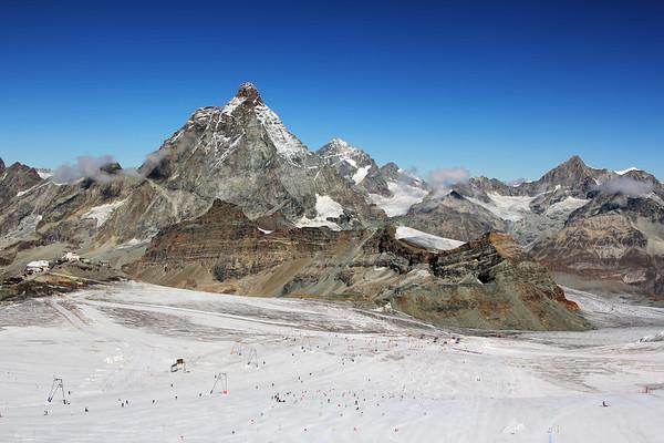 Ski slopes at 4000 meters above sea level.