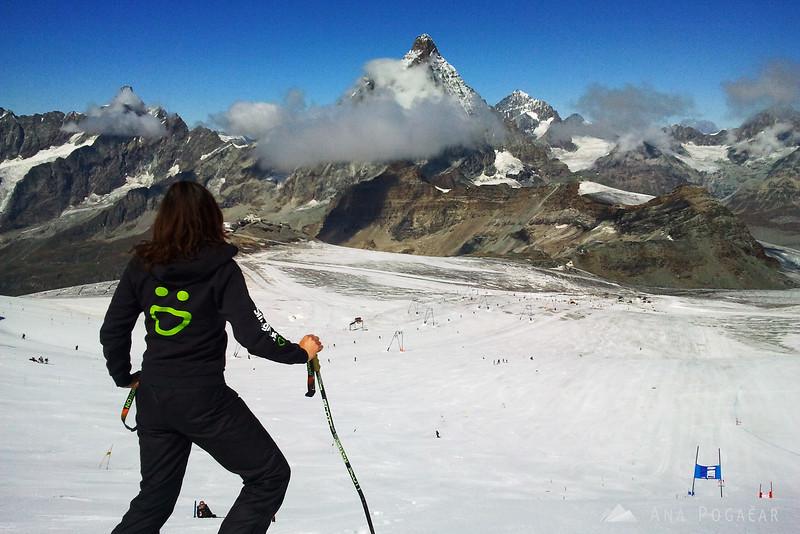 Ana looking at Mt. Matterhorn