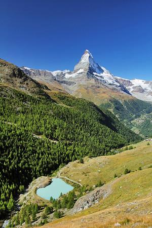Hiking around Zermatt.
