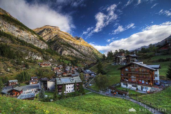 The town of Zermatt is idyllic and car-free.
