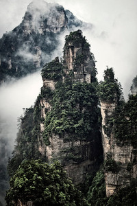 Early morning Zhangjiejia National Park, Hunan Province, China