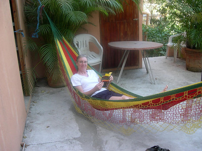 The hammock on the porch overlooking the city was so comfortable.