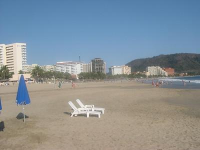 The beach at Ixtapa.