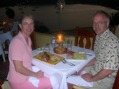 Another memorable meal overlooking the bay.