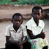 Brother and sister at homestead, rural (read 180 km across dirt paths and stream beds) Beitbridge Zimbabwe.