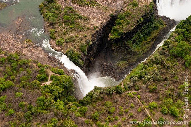 Victoria Falls Seen From Helicopter