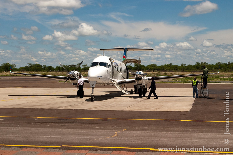 Air Namibia Fuel Stop on Windhoek-Maun-Livingstone Route
