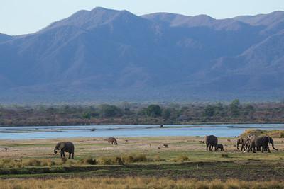 Mana flood plain and Rift Valley escarpment