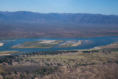 Aerial view of Mana Pools NP