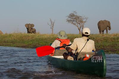 Paddling the Zambezi, Mana Pools