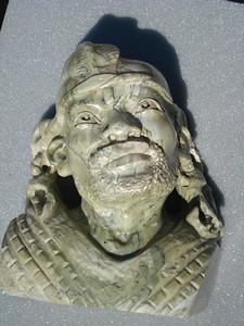 Shona Nanga head in butter jade by Amon Chikumbirike - purchased from the market