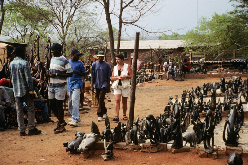 Victoria Falls  arts and crafts market
