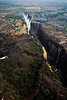 Victoria Falls from a chopper