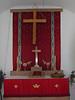 Zion Lutheran Church, Wawbewawa, Ontario. Church closed 2008 August 3rd. Built 1912. Altar