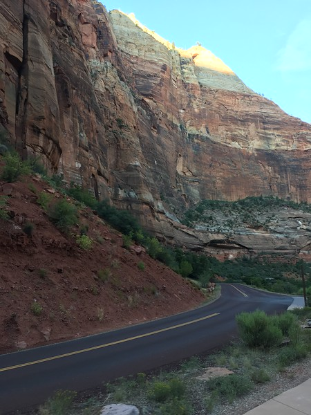 Zion canyon from the shuttle.