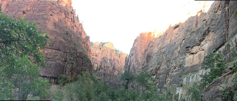 Zion Canyon from the trail.