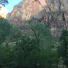 Evening in Zion canyon from the shuttle.