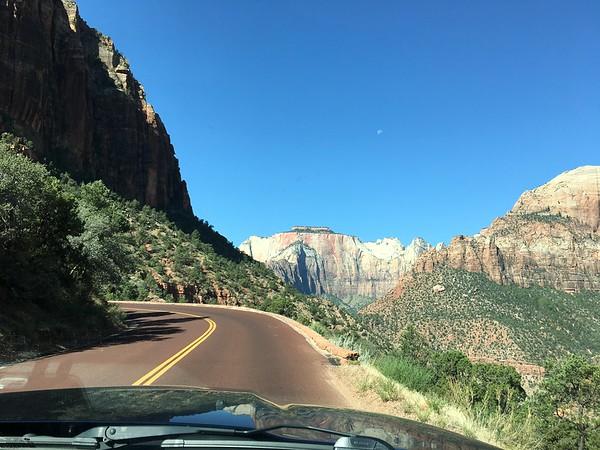 Driving thru Zion via Mt Carmel highway