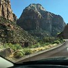 Driving thru Zion via Mt Carmel highway