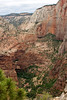 See the trail on the left? Hidden Valley Trail seen from Angel's Landing ... we hiked it the same day!