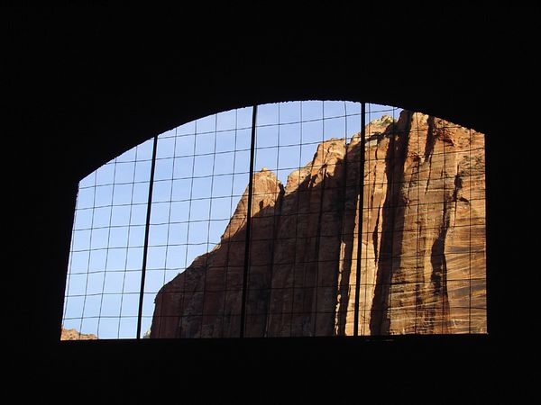 the Tunnel & Zion canyon