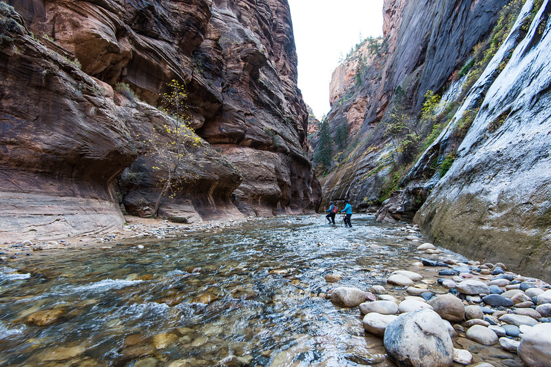Hiking the Narrows in Zion National Park, UT - November 2014