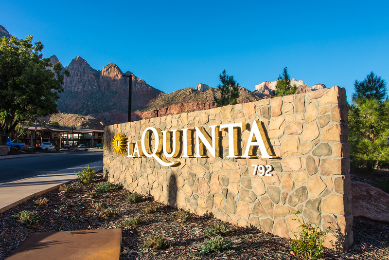 I spent three nights at the La Quinta Inn in Springdale, UT, which was less than a mile from the south park entrance.  November 2014