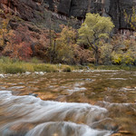 Zion photography began by shooting rapids near the Temple of Sinawava stop.