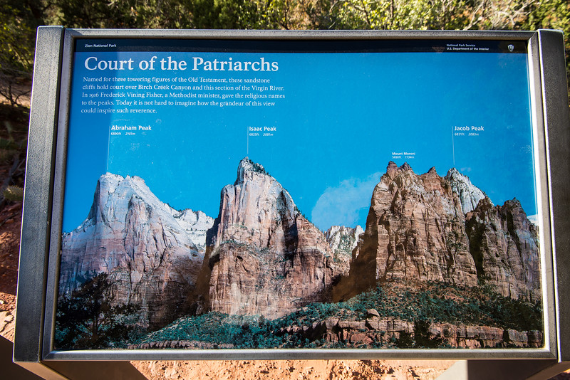Court of the Patriarchs, Zion National Park, UT - November 2014